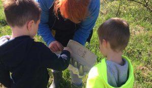 Otroci iz oddelka Kamencki, enote Studeno so raziskovali v bliznji okolici 09